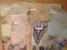 Peony Summer Sheer Fabric Scarf, pastel colors of your choice image 2