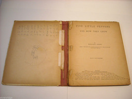 Antique Hardcover Children's Book Five Little Peppers 1881 by Margaret Sydney image 5