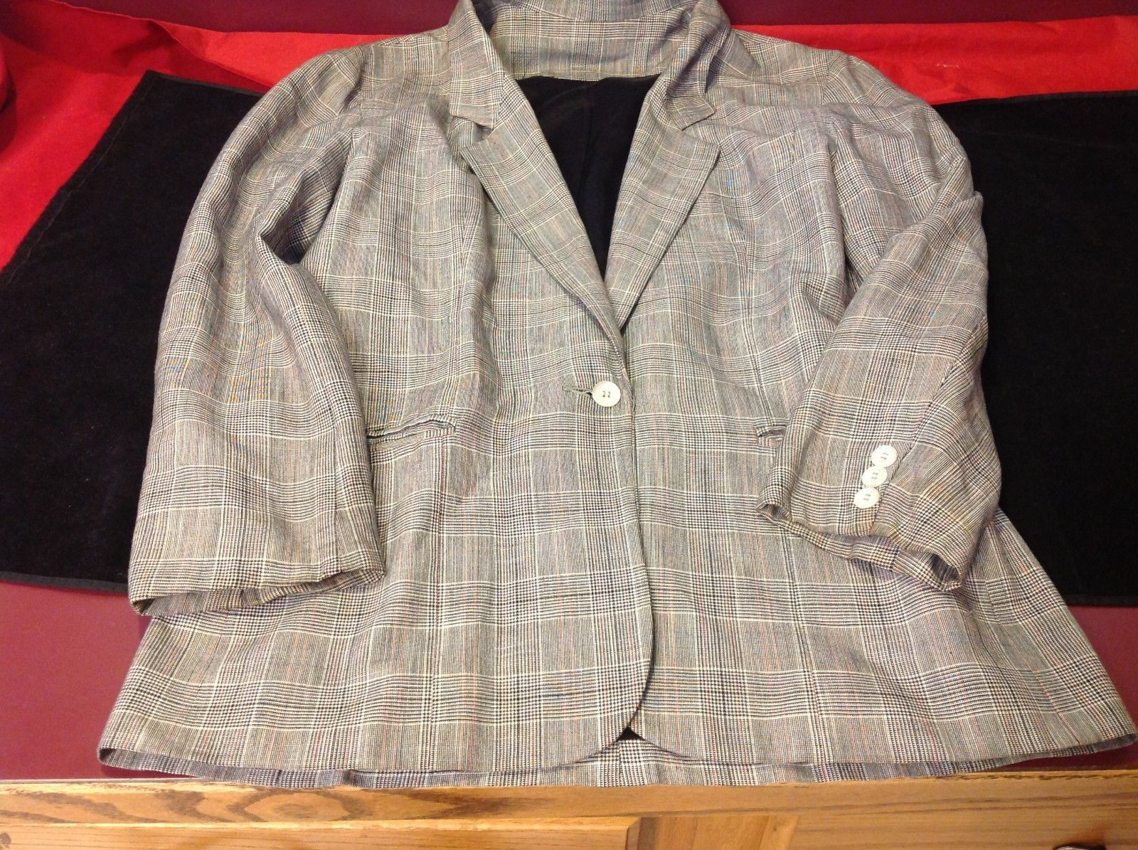 Squared Heather grey blazer size 6