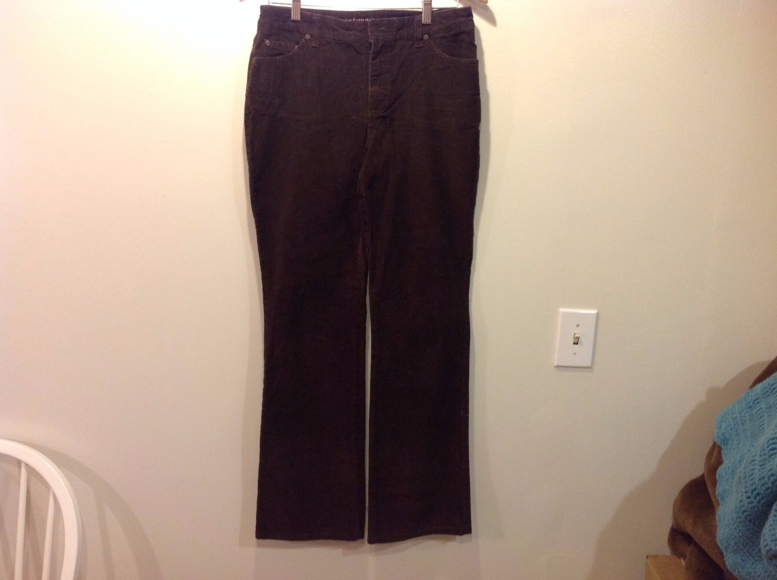 St. John's Bay Corduroy Brown Pants Women Bell Bottom Cut