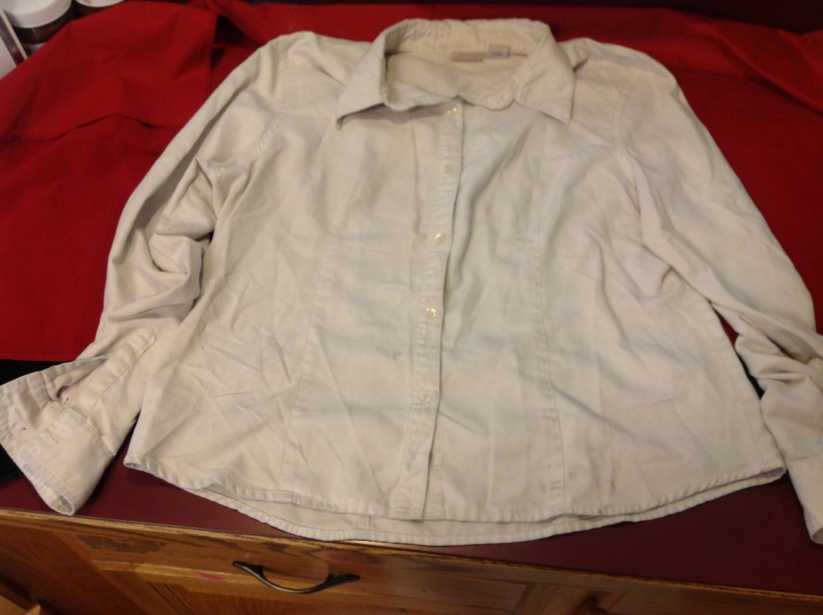 St Johns bay faux casual shirt size xl