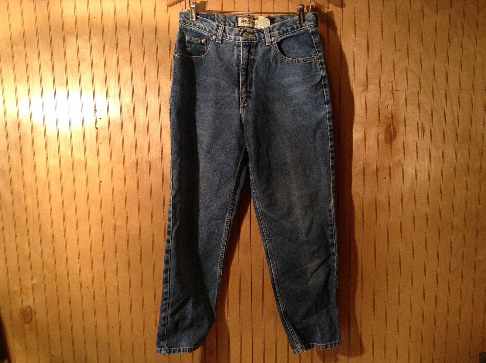 St Johns Bay Classic Fit 100 Percent Cotton Denim Blue Jeans Size 12