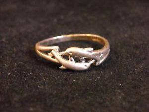 Sterling Silver 925 Leaping Dolphin Ring size 8