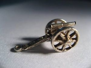 Sterling Silver war battle cannon Charm new