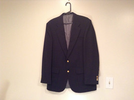 Stafford Dark Blue Suit Jacket Blazer Size 42L Two Button Closure