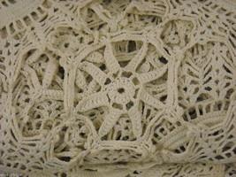 Antique Handmade Lace Bedspread image 3