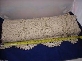 Antique Handmade Lace Bedspread image 4