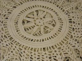 Antique Handmade Lace Bedspread image 5