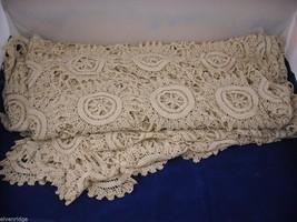 Antique Handmade Lace Bedspread image 6