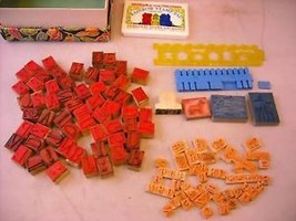 Stamp Printing Set with rubber stamps and pad