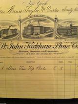 Antique Receipt 1890 St, John Kirkham Shoe Co 134 136 Grand St NYC Sandy Hook CT image 4