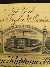 Antique Receipt 1890 St, John Kirkham Shoe Co 134 136 Grand St NYC Sandy Hook CT image 5