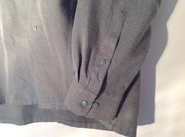 Pierre Cardin Gray Black Green Small Design Pattern Long Sleeve Shirt Size XL image 6
