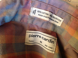 Pierre Cardin Multicolored Button Up Long Sleeve Collared Shirt Size Medium image 7