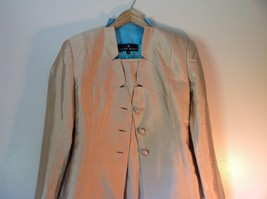 Pilar Rossi Size 10 Light Brown Skirt and Blazer Suit 3 Button Closure on Jacket image 3