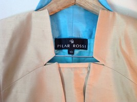 Pilar Rossi Size 10 Light Brown Skirt and Blazer Suit 3 Button Closure on Jacket image 2