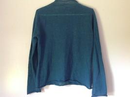Pierre Cardin Options Teal Long Sleeve Sweater Turtleneck Size Medium image 3