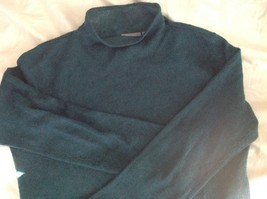 Pierre Cardin Options Teal Long Sleeve Sweater Turtleneck Size Medium image 4