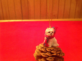 Pine Cone Pet Ornament Westie Pine Cone Pet New in Original Package image 5
