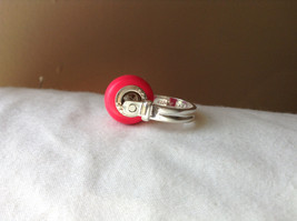 Pink Bead Silver Ring Size 3.25 by Beadit image 2