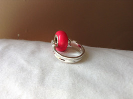 Pink Bead Silver Ring Size 3.25 by Beadit image 3