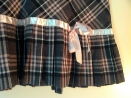 Pink Gray White Plaid Size 9 to 10 Skirt Pink Ribbon Made in USA Luna Chix image 2