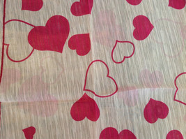 Pink Heart Design Square Fashion Scarf Lightweight Made in China image 5