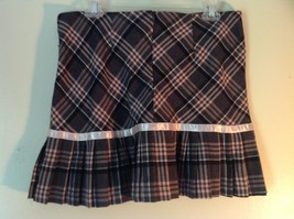 Pink Gray White Plaid Size 9 to 10 Skirt Pink Ribbon Made in USA Luna Chix image 4