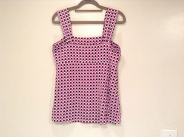 Pink and Brown Dotted Sleeveless Ann Taylor Top Size Medium Strap at Shoulders image 4