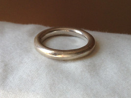 Plain Rounded Silver Ring Size 8 image 6
