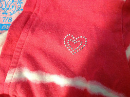 """""""Place"""" Girls Pink Hooded V-Neck Shirt Pink with White Stripes Size Medium 7/8 image 6"""