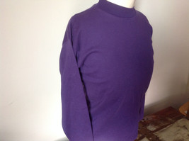 Plain Purple Long Sleeve Cotton Shirt See Measurements Below image 4