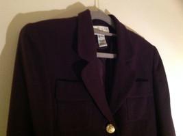 Plum Gold Buttoned Blazar 2 Front Pockets Saville Suit Petite Size 6P image 2