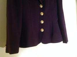 Plum Gold Buttoned Blazar 2 Front Pockets Saville Suit Petite Size 6P image 3