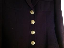 Plum Gold Buttoned Blazar 2 Front Pockets Saville Suit Petite Size 6P image 4