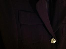 Plum Gold Buttoned Blazar 2 Front Pockets Saville Suit Petite Size 6P image 6