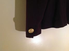 Plum Gold Buttoned Blazar 2 Front Pockets Saville Suit Petite Size 6P image 7