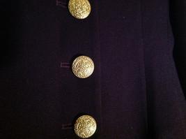Plum Gold Buttoned Blazar 2 Front Pockets Saville Suit Petite Size 6P image 5