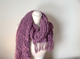 Pink Boho Style Scarf with Dots image 5