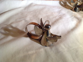 Real Nice Set of Four Metal Angel Napkin Rings Each Unique image 5
