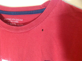 Red American Eagle Short Sleeve T-shirt with Print Design on Front Size XXL image 3