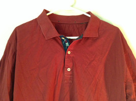 Red Short Sleeve Polo Shirt 3 Button Collared Closure No Tags Measurements Below image 2