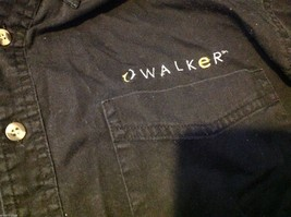 Port Authority Black collared cotton shirt embroidered with Walker name image 3