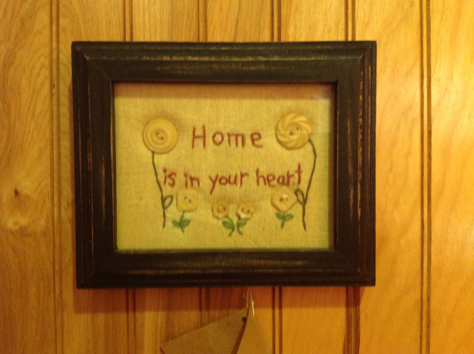 Stitched Home is in Your Heart by Lisa Johnson Framed New with Tag