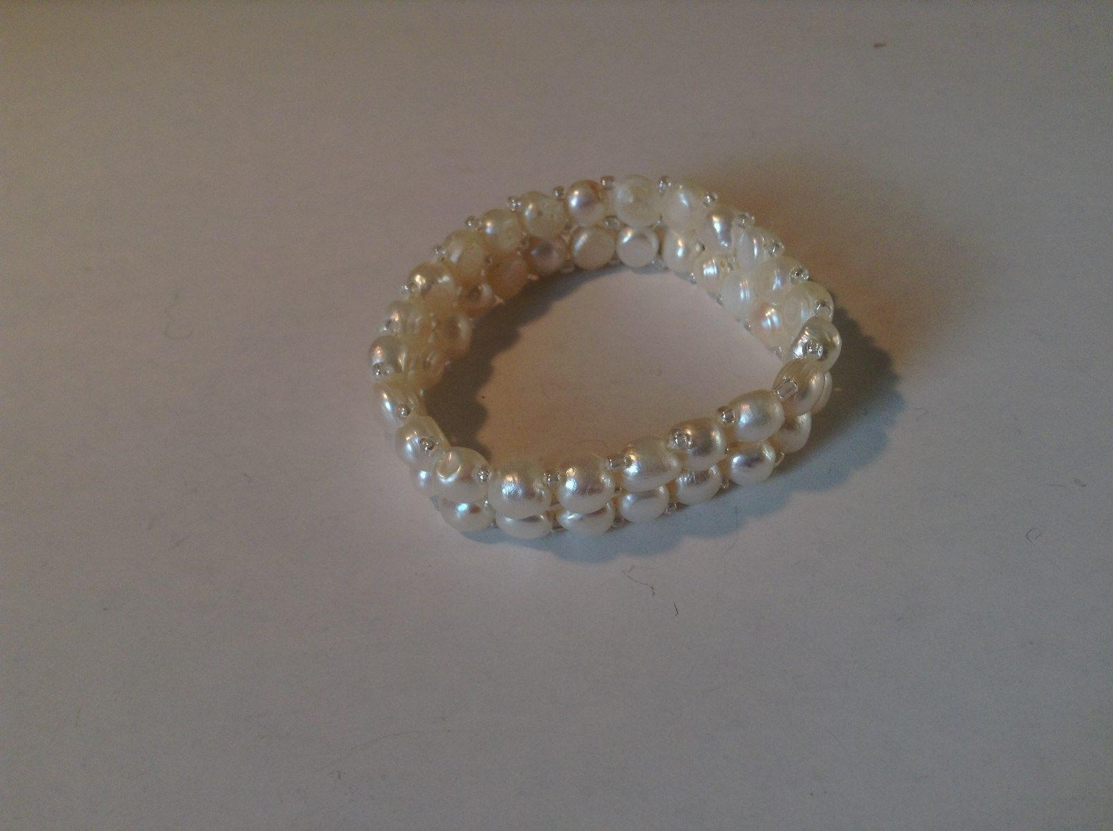 Stretchy White Pearl Bracelet Natural Pearls