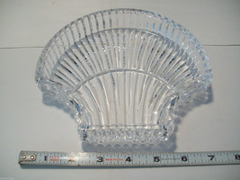 Stunning large lead crystal sea shell shaped candy dish