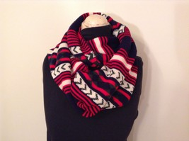 Stripes and geometric pattern warm circle infinity scarf choice of colors