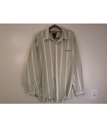 Striped Green Long Sleeve Button Up J Crew Shirt Excellent Condition Siz... - $34.64