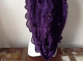 Pretty Frilly Furry Purple Infinity Scarf See Measurements Below image 4