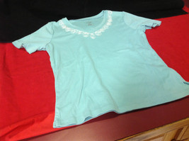 Pretty Hasting and Smith Ladies Light Blue Short Sleeve Top Size PS image 6